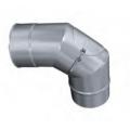 Kolano 90° z rewizją żaroodporne MKSZ Invest MK ŻARY Ø 130mm gr.0,8mm