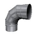 Kolano 90° skrętne żaroodporne MKSZ Invest MK ŻARY Ø 250mm gr.0,8mm