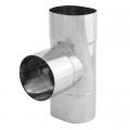 Trójnik 90° żaroodporny owalny SPIROFLEX 130x240mm gr.0,8mm