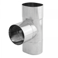 Trójnik 90° żaroodporny owalny SPIROFLEX 115x170mm gr.1,0mm