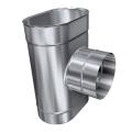 Trójnik żaroodporny owalny MKSZ Invest MK ŻARY 110x200mm gr.0,8mm strona szersza