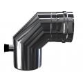 Kolano 90° z odskraplaczem i króćcem pomiarowym dwuścienne MKPS Invest MK ŻARY  Ø 60/100mm