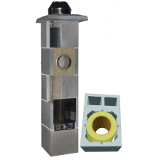 System Kominowy Ceramiczny  JAWAR Uniwersal Plus Ø 180mm z wentylacją  2-kanałową rura izostatyczna