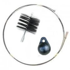Zestaw kominiarski uniwersalny do czyszczenia od góry i od dołu szczotka z drutu, kula 1.6kg, dł.12mb