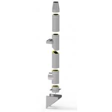 System kominowy stalowy izolowany SLIM Ø 130mm gr.0,8mm