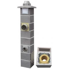 System Kominowy Ceramiczny  JAWAR Nord Ø 180mm z wentylacją rura izostatyczna