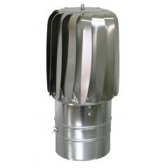 Nasada obrotowa Turboflex SLIM Ø 150mm aluminium na rurze SPIROFLEX