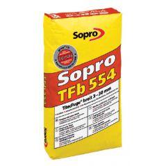 SOPRO fuga szeroka 3-30 mm – wysokowytrzymała, TFb - kolor betonowo-szary, 25kg