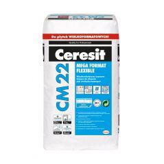 CERESIT CM 22 wysokoelastyczna zaprawa klejąca do klejenia płyt wielkoformatowych, 20 kg