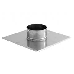 Płyta dachowa wywiewki 2 nierdzewna SPIROFLEX Ø 100mm
