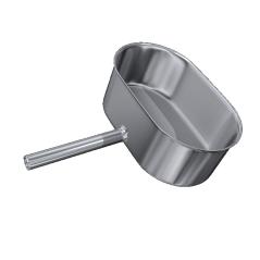 Odskraplacz żaroodporny owalny MKSZ Invest MK ŻARY 110x200mm gr.0,8mm strona szersza