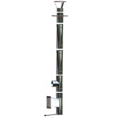 Wkład kominowy żaroodporny owalny MKSZ Invest Owal MK ŻARY 120x220mm gr.0,8mm
