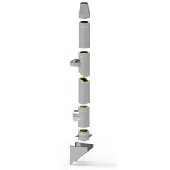 System kominowy stalowy izolowany SLIM Ø 150mm gr.0,8mm