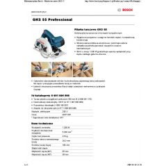PILARKA TARCZOWA GKS 55 1200W