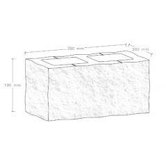 CJBLOK Pustak betonowy elewacyjny PBE-19-4 czterostronnie łupany, 2 image