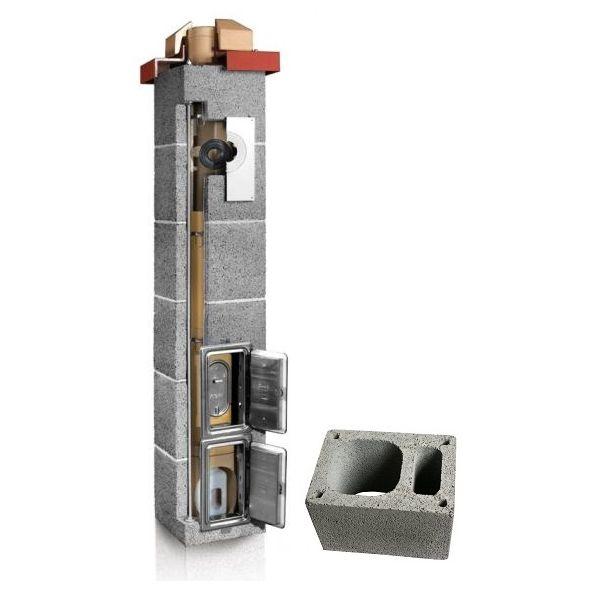 System Kominowy Ceramiczny PLEWA Uni Las 140x140mm z wentylacją