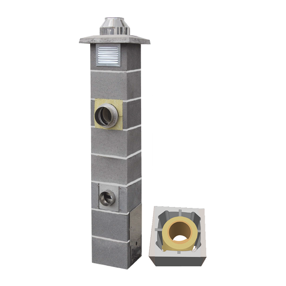 System Kominowy Ceramiczny  JAWAR Nord Ø 200mm rura izostatyczna