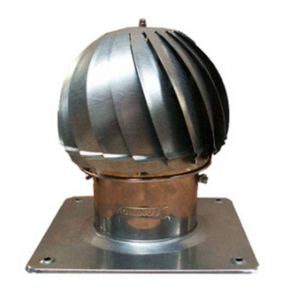Nasada Turbomax 1 SREBRNY Ø 150mm z podstawą kwadratową ocynk