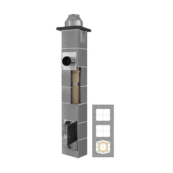 System Kominowy Ceramiczny  JAWAR K Ø  80mm z wentylacją 2-kanałową