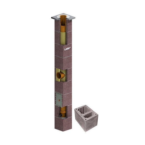 System Kominowy Ceramiczny LEIER SMART izolowany Ø 200mm z wentylacją