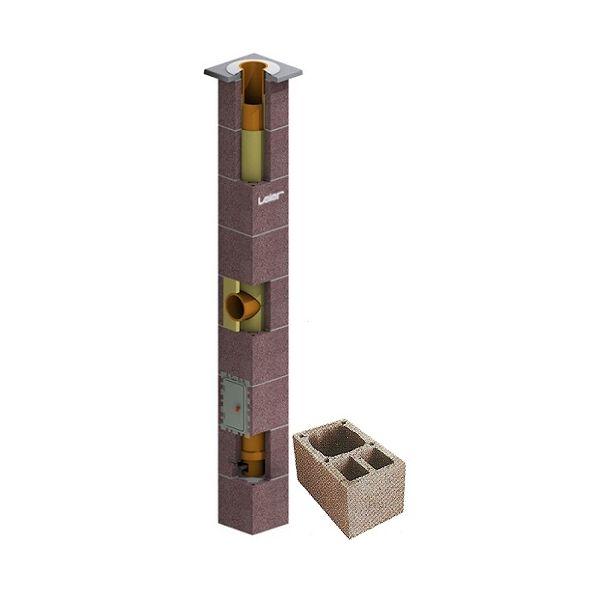 System Kominowy Ceramiczny LEIER SMART izolowany Ø 200mm z wentylacją 2-kanałową