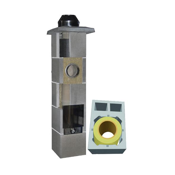 System Kominowy Ceramiczny  JAWAR Uniwersal Plus Ø 200mm z wentylacją  2-kanałową rura izostatyczna