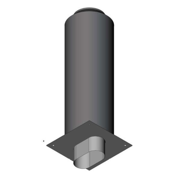 Przedłużenie komina izolowane owalne 1mb gr.0,8mm
