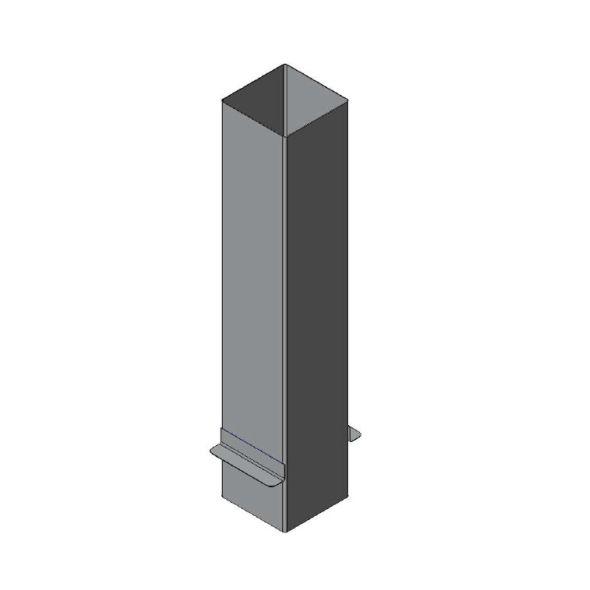 Przedłużenie komina prostokątne 0,75mb gr.0,8mm