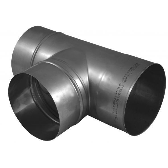 Trójnik 90° KOMINUS KZS Ø 160mm gr.0,8mm
