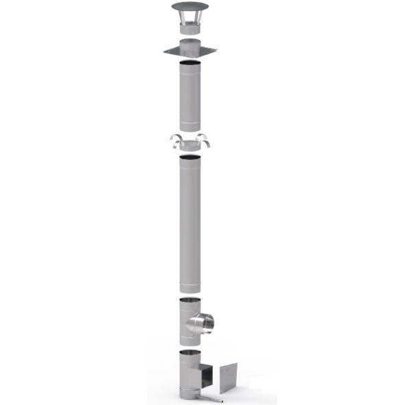 Wkład kominowy żaroodporny KOMINUS KZS Ø 200mm gr.0,8mm