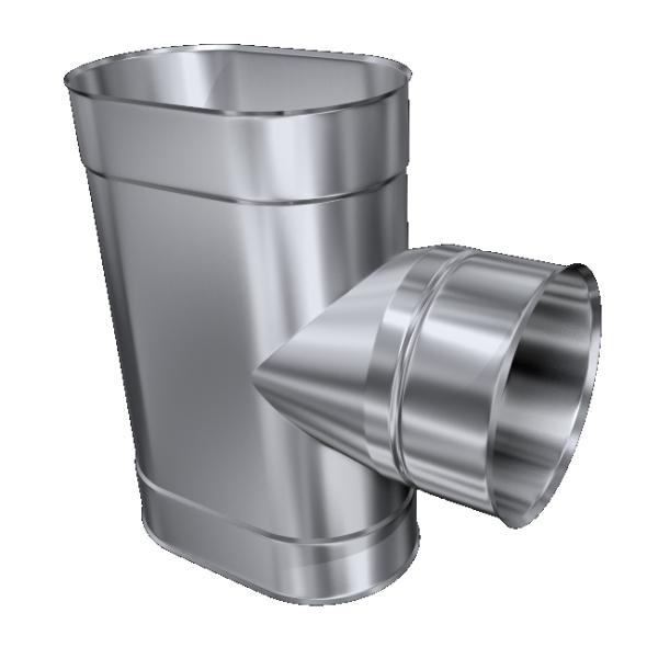 Trójnik żaroodporny owalny MKSZ Invest MK ŻARY 110x200mm gr.0,8mm strona węższa