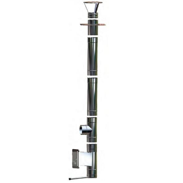 Wkład kominowy żaroodporny owalny MKSZ Invest Owal MK ŻARY 120x180mm gr.0,8mm