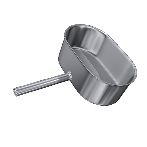 Odskraplacz żaroodporny owalny MKSZ Invest MK ŻARY 110x180mm gr.0,8mm strona szersza