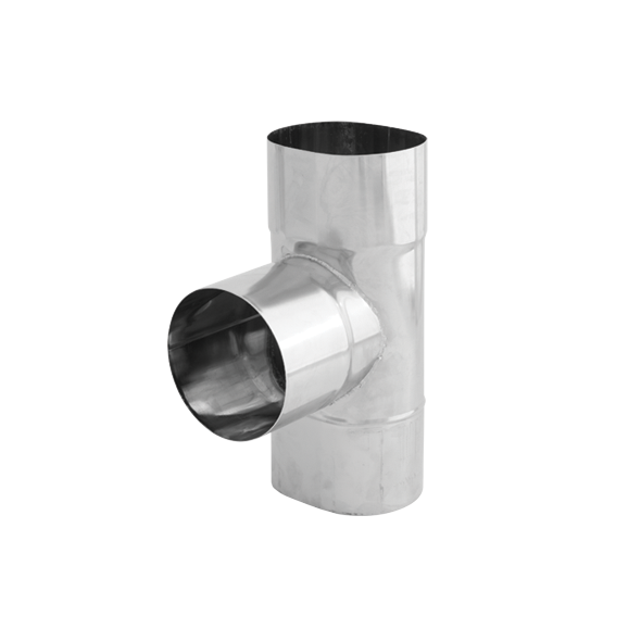 Trójnik 90° żaroodporny owalny SPIROFLEX 115x170mm gr.0,8mm