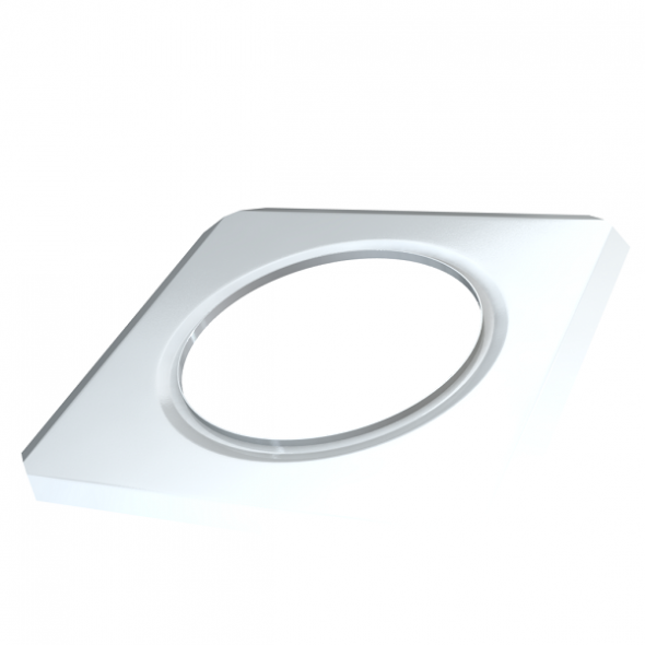 Rozeta ścienna kwadratowa MKPS Invest MK ŻARY Ø 150mm biała
