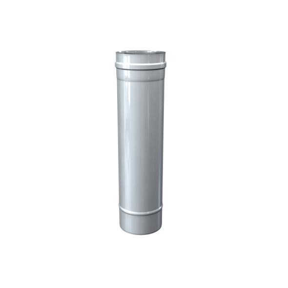 Rura prosta dwuścienna MKPS Invest MK ŻARY  Ø 80/125mm 0,5mb biała
