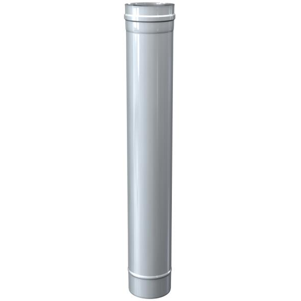 Rura prosta dwuścienna MKPS Invest MK ŻARY  Ø 80/125mm 1mb biała