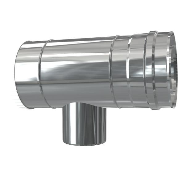 Trójnik rewizyjno-redukcyjny 87° dwuścienny MKPS Invest MK ŻARY  Ø 60/100 - 80/125mm